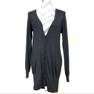 Splendid long dark gray cardigan sweater